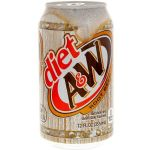 A&W Diet Root Beer, case of 12 cans